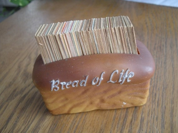 Bread Of Life Vintage Loaf Of Bread Filled With Verse Cards