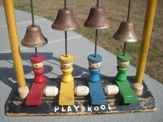 Playskool Musical Toys : Reserved for kim vintage wooden playskool musical toy with