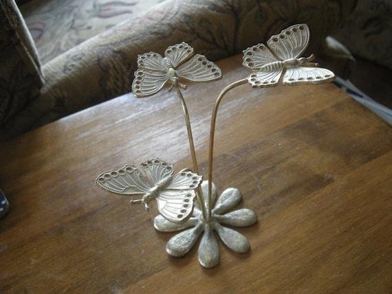 Vintage Brass Butterfly Sculpture