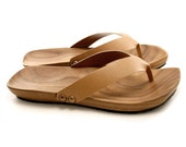 Mens Mohop Handmade Wood-Sole Thong-Style Sandals