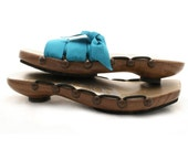 Size 5 - Low Walnut Wedge Mohop Sandals