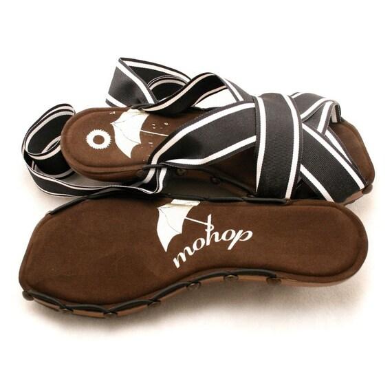 "Size 8W - Cherry 2"" PeepToe Wedge Mohop Handmade Shoes"