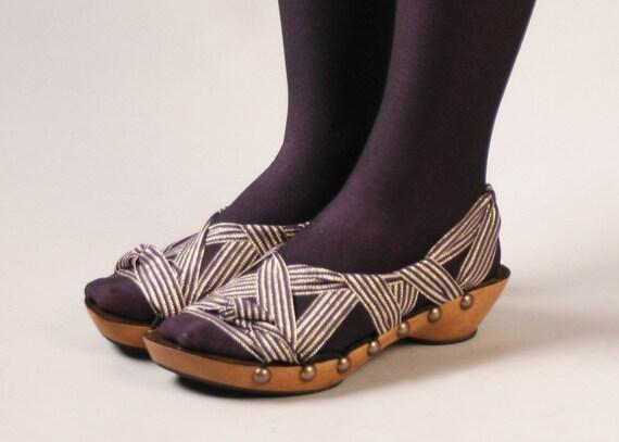 Size 8- Low Cherry Peeptoe RTW Mohop Shoes