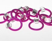Medium Stitch Markers Pink\/Clear  Fits up to a US8\/5mm - Snag\/Tangle Free - Free shipping