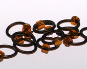 Medium Stitch Markers Brown\/Brown Fits up to a US8\/5mm - Snag\/Tangle Free - Free shipping