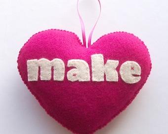 Love to Make Felt Love Heart