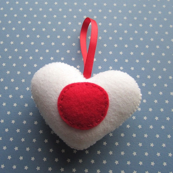 Japan Flag Handmade Felt Love Heart