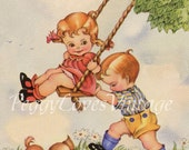 Collection of Cuties Volume 2 NEW ITEM - Sentiment Free- Vintage Greeting Card Images on CD 400 Images
