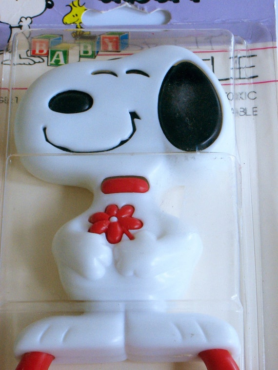 Vintage - Snoopy Baby Rattle Toy