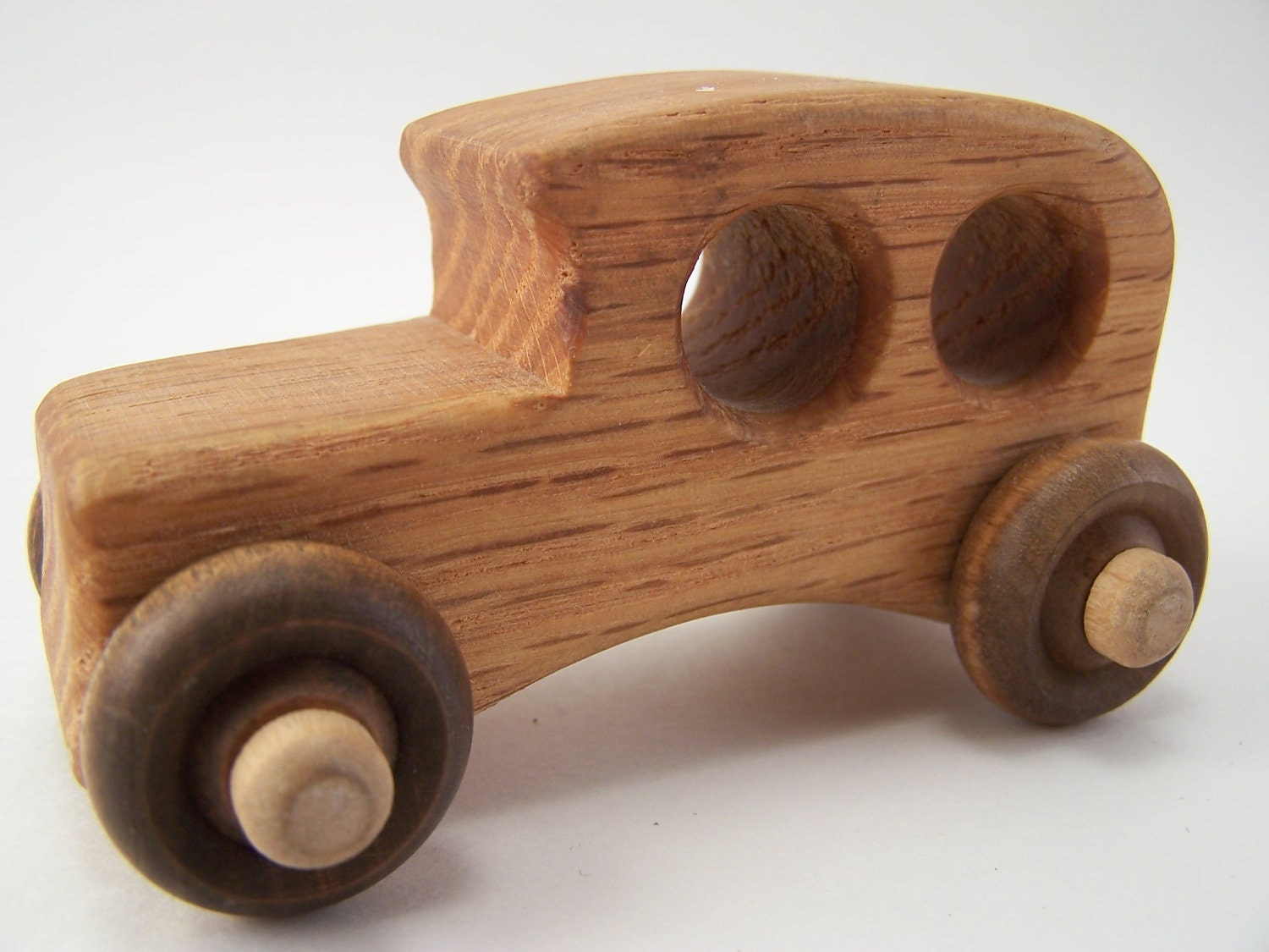 Vintage Wooden Wood Toy Car Children Gift Hand Made by GarageInc