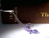Swarovski Crystal Bookmark - Shades of Violet