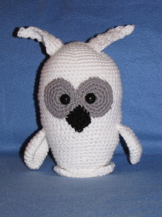 Crochet Pattern For Pikachu Doll : Amigurumi Blizzard the Snowy Owl Crochet Pattern from ...