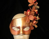 Fire Orchid Handmade Leather Mask