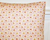 lilac and cream 16 inch cushion cover roses ,vintage style shabby chic decorative pillow cover