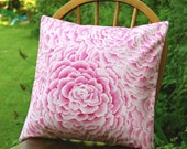 pink flower cushion cover  ,pink pillow cover 16 inch