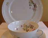 Weisswasser Cup and Saucer with Dessert plate- Germany