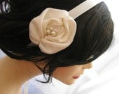 Ivory Rose Hair Ribbon - Whispers Of Passion