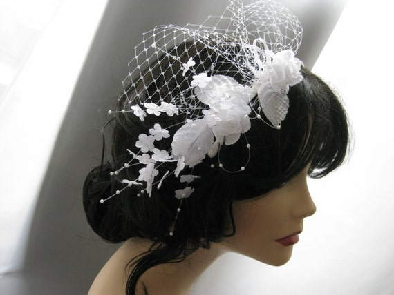 Wedding White Flower Bridal Headband