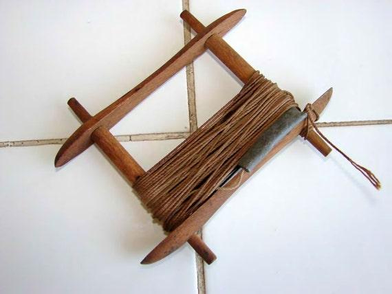 Fishing handline with wood line winder vintage for Handline fishing reel