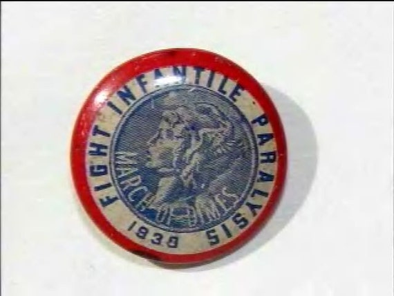 March of Dimes Pin 1938  Fight Infantile Paralysis