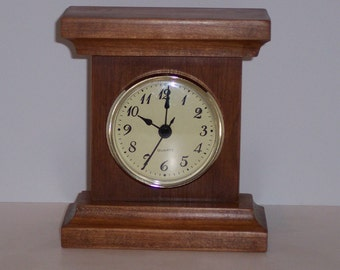 Clock For Your DESK or Workstation handcrafted from Solid Cherry