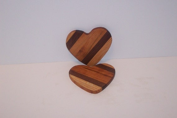 A Pair of HEART Coasters for LOVERS