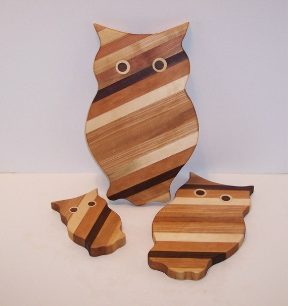Cutting Boards, Set of 3 OWL'S
