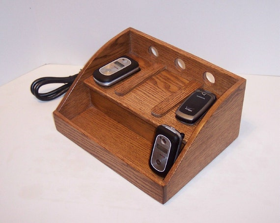 Charging Station Handcrafted in Oak