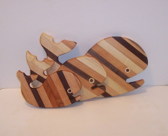 3 Whale's Cutting Board Set