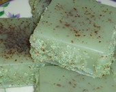 Pistachio Almond Pudding Cake Soap, Made with Aloe, Pistachio Butter, and Almond Meal
