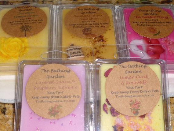 10 Tart Bundle-Please Choose Scents From Choices In This Listing