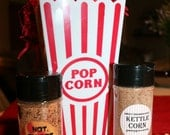 Gourmet Popcorn Seasoning Kit Sweet Cinnamon Spice Kettle Corn and Hot Sweet and Salty