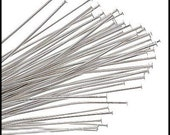 100 pcs - Silver Plated Head Pins 2 inches (21 gauge)