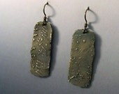 Bronze Earrings with Linear A Script