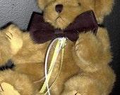Brown Ring Bearer Teddy  Bear Pillow