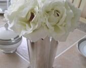 Set of 10 Cream Rose Silver Mint Julep Cup Wedding Centerpeice