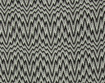 Black and White 'Wyandotte Design' Handwoven Silk Scarf
