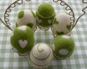Felted Egg Display