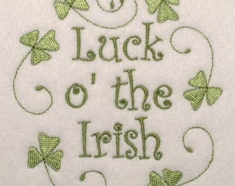 Instant Digital Download Set of fifteen 4X4 Irish Shamrock Quilting & Sayings Celtic Machine Embroidery Designs