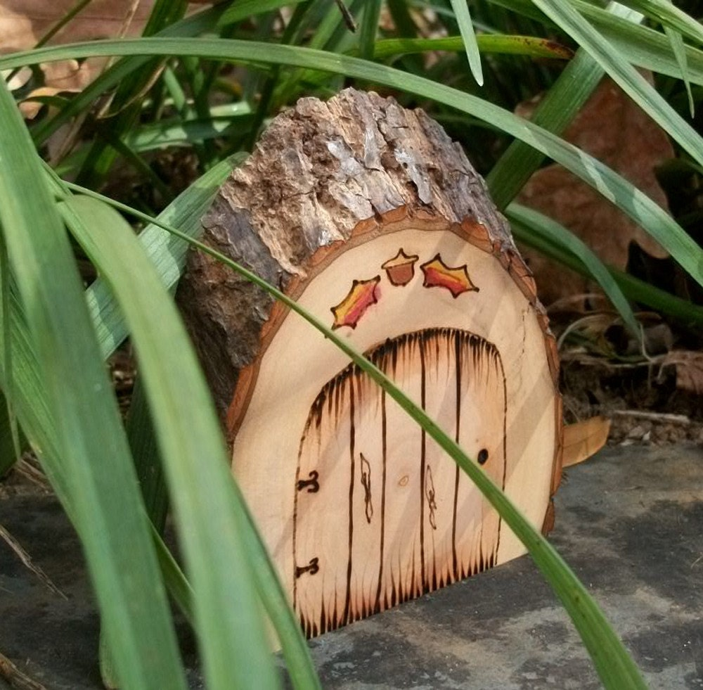 Natural and rustic magical fairy door faerie by for Rustic fairy door