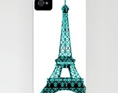 Eiffel Tower Phone Case -  Paris City, Eiffel Tower, Samsung Galaxy S6, iPhone 6S, iPhone 6 Plus, floral case, City Gifts, Eiffel Gifts
