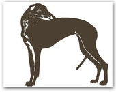 Greyhound Dog Print, dog lover, pet, silhouette, coursing game, racing dog, fine art print, grey color, Mothers Day