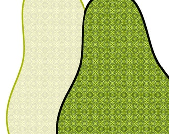 Pear Shape fruit - Fine art print, kitchen decor, dining room decor, pears deisgn