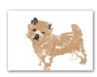 Cairn Terrier Dog  - Fine art print, brown cairn terrier, pet sitter gift, vet gift