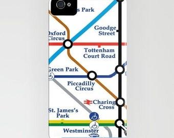 London Tube Map - Phone Case - London underground tube map color England, iPhone 5 iPhone 5C, iPhone 6S, iPhone 6 Plus