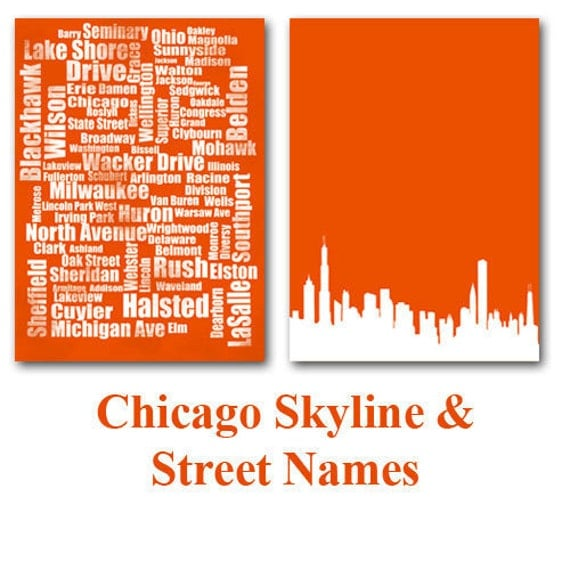Chicago - Skyline and Street typography