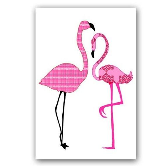 Flamingos In Love Kids Art Prints Nursery Decorating By Ialbert