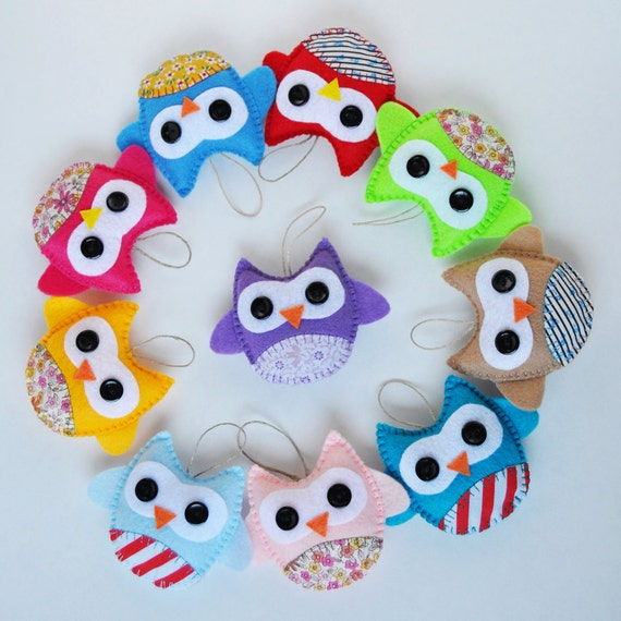Christmas Ornaments For Baby Shower Favors : Items similar to wholesale eco friendly owl ornaments