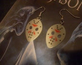 Guitar Pick Earrings - Glow-in-the-Dark Jason Masks