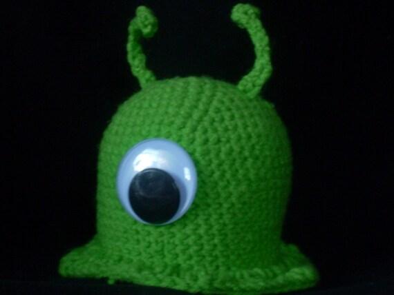Crocheted Amigurumi Plushie Futurama Brain Slug